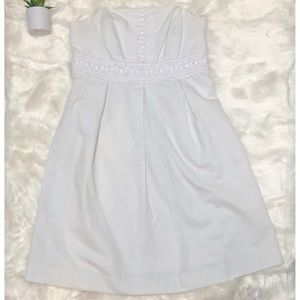 Lilly Pulitzer Betsey Classic White Beaded Dress